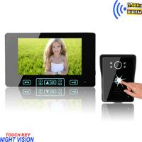 Buy cheap 7 inch Digital TFT color High-strength tempering glass multi apartments video door phone from wholesalers