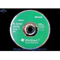 Buy cheap Microsoft Windows 7 Home Premium SP1 , 32 / 64 Bit Windows 7 System Builder OEM DVD Retail Box product