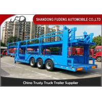 Buy cheap 12 Car Carrier Semi Trailer , Skeletal Type 2 / 3 Axles Vehicle Transport  Trailer from wholesalers