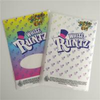 Buy cheap Customized Labels Printable Shrink Wrap  White Runtz Mylar Paper Stickers Gravure Printing from wholesalers