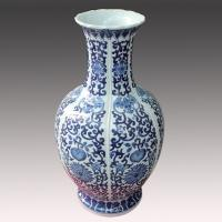 Buy cheap jingdezhen antique blue and white ceramic flower vase for wholesale retail from wholesalers