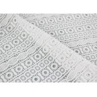 Buy cheap Embroidered Guipure Water Soluble Lace Cotton Chemical Lace Fabric For Clothing product