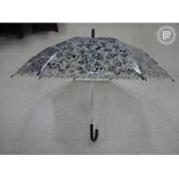 Extra Large Auto Open Bubble UmbrellaBlack Hook Handle Black Tips 95cm Open Dia