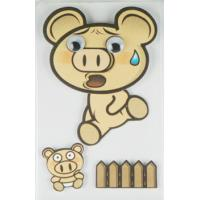 Buy cheap Offset Printed Running Piggy 3D Cartoon Stickers For Mobile Phone Decor from wholesalers