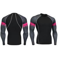 Buy cheap Heat Transfer Printing Sports Compression Tights Long Sleeve Yoga Cloth Comfortable from wholesalers