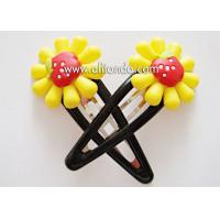 Buy cheap Fashion hair accessories customized metal flower hairpin for birthday wedding promotional gifts from wholesalers