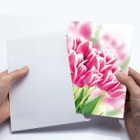 China 12x17cm Fold Lenticular Greeting Cards , Flower 3D Greeting Cards For Holiday / New Year on sale