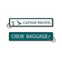 Buy cheap Cathay Pacific Crew Baggage Keyring Made By Twill + Ring With Merrow Border Embroidery Keychain Accept Custom from wholesalers