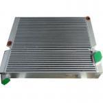 Plate Aluminum Air Compressor Oil Cooler , Compressed Hydraulic Oil Cooler Radiator