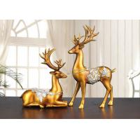 Buy cheap Christmas Reindeer Resin Arts And Crafts Home / Hotel Decoration Use from wholesalers