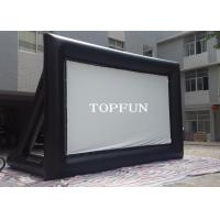Buy cheap Outdoor Black PVC Tarpaulin Inflatable Movie Screen With Support Behind from wholesalers