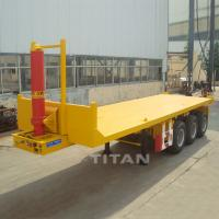 Buy cheap Tipping container semi trailer tipper container tipping flatbed trailer for sale from wholesalers