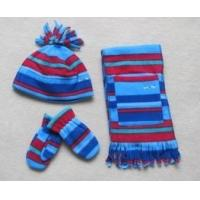 Buy cheap 2017 Yiwu Fashion High Quality Winter Knitted Girls Scarf Beanie Hat gloves Set from wholesalers