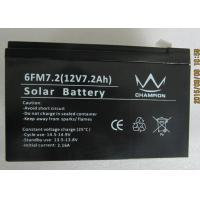 Buy cheap 6fm7.2 Deep Cycle Black Charging Lead Acid Batteries With Solar from wholesalers