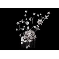 Buy cheap A Big Flower Crystal, Rhinestone and Some Small Flower Wedding bridal hair combs for women from wholesalers