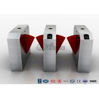 Buy cheap Pedestrian Turnstile Flap Barrier Gate Access Control System Half Height 550mm Passage Width from wholesalers
