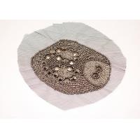 Buy cheap Personalized Round Golden Sequin Beaded Appliques for Clothing Uniforms Jeans from wholesalers