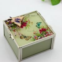 Buy cheap Wedding Gifts EU Style Glass Painting Jewelry Box from wholesalers