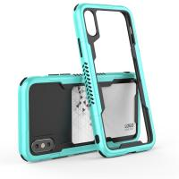 Buy cheap 2018 Newest For iphone x case tpu bumper hybrid dual layer Phone Case with Cards Slot from wholesalers