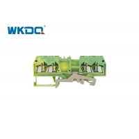 Buy cheap 280-837 Spring Cage Ground Terminal Block Connectors Green Color Flaming Retarding Nylon PA66 from wholesalers
