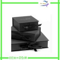 Buy cheap Ribbon Closure Flat Folding Magnetic Closure Gift Box Custom Print from wholesalers