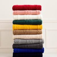 China Customized Size Anti Pilling Knitted Shawl Wrap / Cable Knit Throw 7GG Gauge on sale