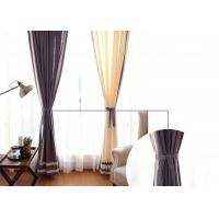 Buy cheap patchwork white and navy curtains , Plain Style Home living room curtains from wholesalers
