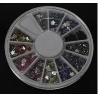 Buy cheap Flower-High Quality Colors Nail Art Rhinestones Glitters Gems Nail Art Decoration Wheel from wholesalers