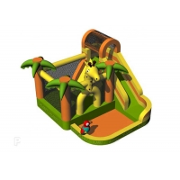 Buy cheap 840D Oxford Inflatable Jumping Castle Bouncer With Water Slide from wholesalers