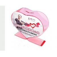 Buy cheap Heart Shape Pink Acrylic Storage Boxes For Donation  Approved product