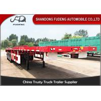Buy cheap Fudeng tri axles 40ft container shipping flatbed semi trailer from wholesalers