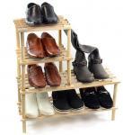 Buy cheap Unique Design Storage Rack Shelf Wood Shoe Storage Unit Organiser Bedroom Shelving Units from wholesalers
