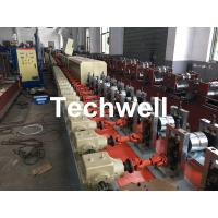 Buy cheap Aluminum , Carbon Steel Pu Foam Rolling Shutter Door Making Machine With Servo Tracking Flying-Saw Cutting from wholesalers