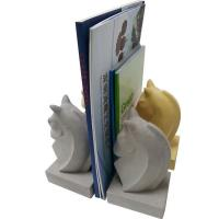 Buy cheap Animal Shape Decorative Concrete Bookends Yellow , White Painting from wholesalers