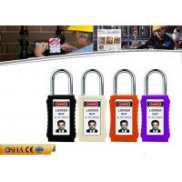 Buy cheap 75mm Long Body Colorful ABS Safety Steel Shackle Lockout Padlocks with Keyed Alike from wholesalers