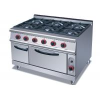 Buy cheap Commercial Cooking Lines , Free Standing 4 / 6 American Burners Gas Range With Oven from wholesalers