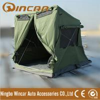 Buy cheap Quick open tent with awning pitch 280G canvas 30 seconds easy set up waterproof ground tent 4 X 4 breathable car tent from wholesalers