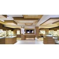 Buy cheap Natural wood oak veneer Display showcase with Glass showcase for Jewelry store with Storage cabinets from wholesalers