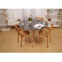 Buy cheap Black Contemporary Solid Wood Dining Table Sets Strong Structure For Home from wholesalers