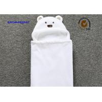 Buy cheap 100% Polyester Chenille Plush Baby Blankets With Bear Applique Embroidery Hat from wholesalers
