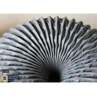 Buy cheap PVC Coated Fiberglass Fabric Grey Flexible Air Ducts 200MM 260℃ Waterproof from wholesalers