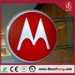 Buy cheap storefront acrylic signage/aluminium profiles round led light box/advertising light box from wholesalers