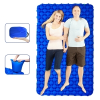 Buy cheap SGS 220x150cm Inflatable Sleeping Pad For Camping Tent from wholesalers