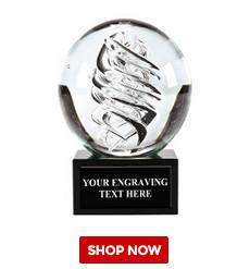 Buy cheap globe awards crystal k9 optical glass dia80mm product