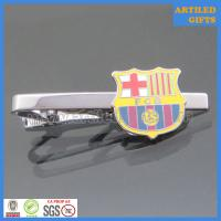 Buy cheap Hard enamel filling FCB/Fútbol Club Barcelona black nickle tie clips for sports from wholesalers