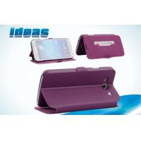 Buy cheap Purple Samsung Galaxy Leather Cases Wallets for Samsung Galaxy Mega 6.3 from wholesalers
