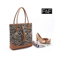Buy cheap wholesale Clothing accessories-F&F zebra tassel canvas shoulder bag portable female bag from wholesalers