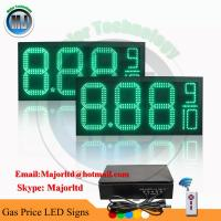 Buy cheap Outdoor Waterproof Green LED Gas Price Changer Panel with Wireless Remote control from wholesalers