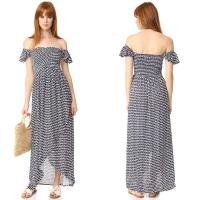 Buy cheap Clothes Woman Printed Off Shoulder Rayon Bohemian Maxi Dress from wholesalers