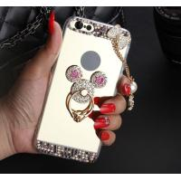 Buy cheap Diamond Mickey Phone Case, Apple Mirror Phone Protector with Stand, Iphone back shell with ring holder from wholesalers